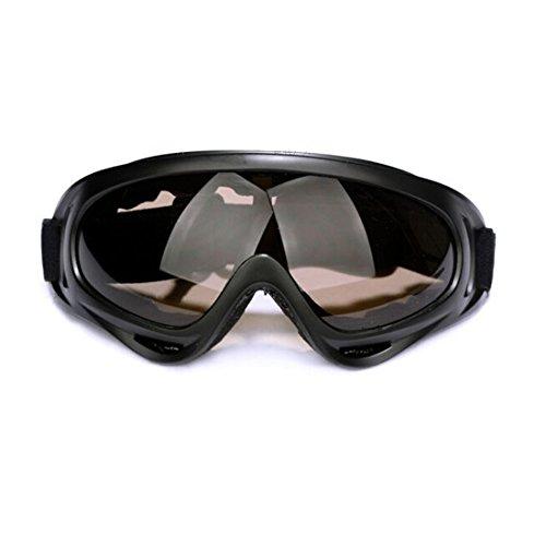 Andux Zone Jagd Airsoft X400 Wind Staubschutz Tactical Schutzbrille-Motorrad Brille GL-04 (Smoke)