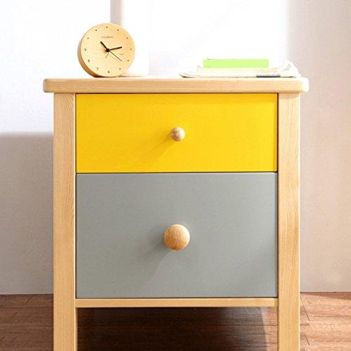 BOBE SHOP- Moderner kreativer Nachttisch mit 2 Fächern, hölzerne Nachttische für das Schlafzimmer der Kinder, Wohnzimmer-Schlafzimmer-dekorative Kabinette