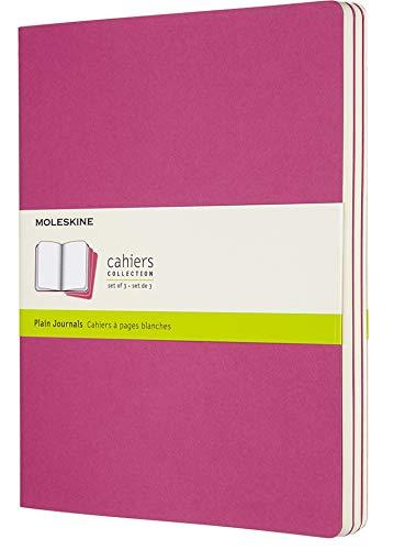 Moleskine Cahier Journal (Juego de 3 cuadernos con páginas en blanco, cubierta de cartón y bordados de algodón, grandes 19 x 25 cm , 12 páginas), amarillo suave