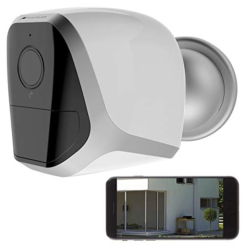VisorTech Akku Kamera: Full-HD-IP-Überwachungskamera mit App, 12 Monate Stand-by, 4 Akkus (WLAN Kamera außen)