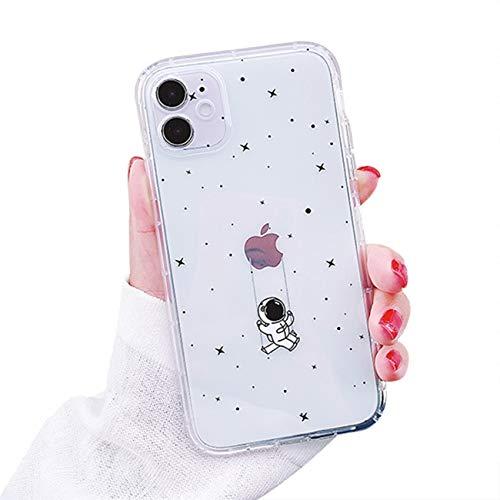 Bakicey iPhone 12 Hülle, iPhone 12 Transparent Dinosaurier Muster Weiche Silikon Handyhülle Fallschutz TPU Schutzhülle Hülle Cover für iPhone 12 (6,1''), Star