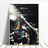qianyuhe Canvas Painting Football Sport Star Lionel Messi