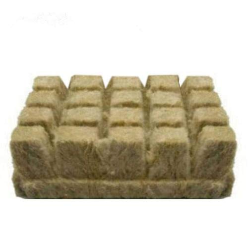Grodan Steinwolle Anzucht matt, Rockwool/Stonewool Hydroponic Soilless Anbau Compress Base, Hydroponic Grow Medien für Stecklinge, Pflanzenvermehrung, Samen