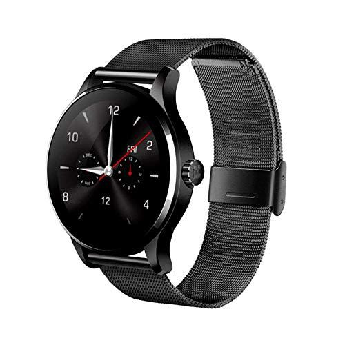 Reloj inteligente con pantalla táctil, salud y fitness, 1.22 pulgadas, monitor de ritmo cardíaco/sueño, podómetro, rastreador de actividad física para hombre y mujer, regalo negro