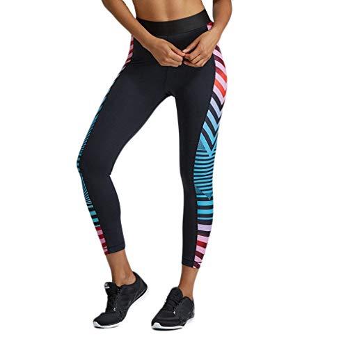 Longra yogabroek, kleurverloop, gestreept, gaten, sneldrogend, elastisch, sportleggings, voor dames, met tassen, yoga, tights, capri, fitness, gym