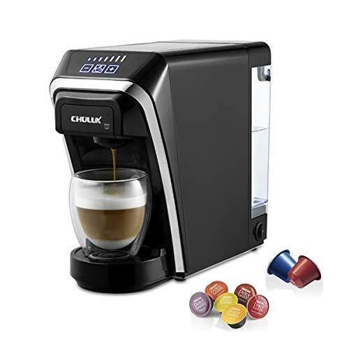CHULUX Cafetera Máquina de Cápsulas Multifuncional Compatible con Nespresso y Dolce Gusto 2 en 1 19 Bares Presión