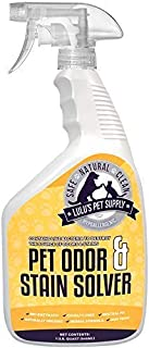 Lulu's Professional Strength Hypoallergenic Pet Stain Remover & Urine Odor Eliminator Spray for Dogs & Cats w/Natural Bio-Enzymes - Spot Carpet Cleaner (32oz)