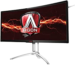 "AOC AGON Curved Gaming Monitor 35"" (AG352UCG6), 1800R, Uwqhd 3440x1440 VA Panel, G-Sync, 120Hz, 4ms, DisplayPort/HDMI"