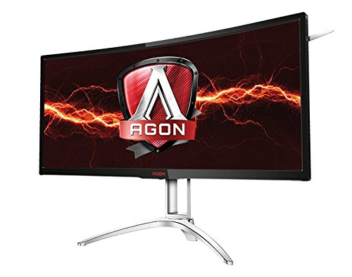 "AOC Agon AG352UCG6 35"" Curved Gaming Monitor, 1800R, UWQHD 3440x1440 VA Panel, G-SYNC, 120Hz, 4ms, DisplayPort/HDMI"