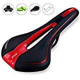 IPSXP Mountain Bike Saddle, Comfy Bike Saddle Professional Mountain Bike Gel Saddle MTB