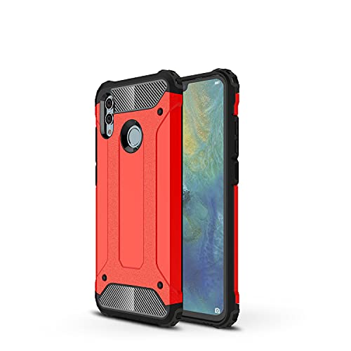 GUOQING Carcasa de telefono Funda Protectora para Huawei Honor 10 Lite Case, para Huawei Honor P Smart 2019 Case, TPU + PC Dual Capa Dual Layer Hybrid Hybrid Protective Case (Color : Red)