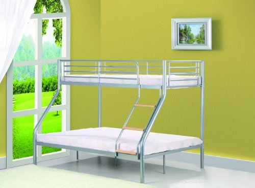 Comfy Living Single 3ft / Double 4ft6 Triple Metal Bunk Bed - Triple Sleeper