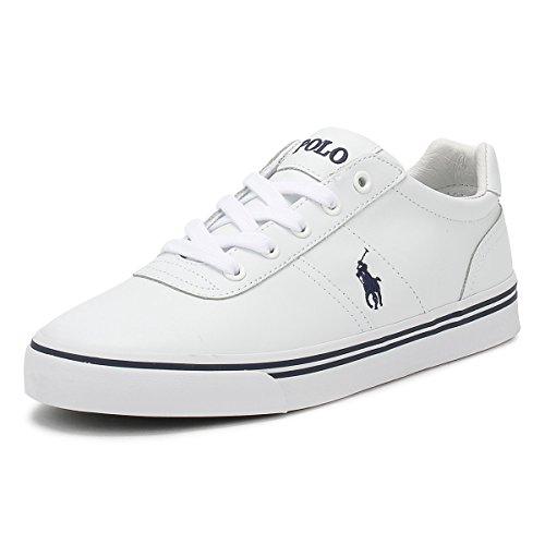 Ralph Lauren Polo Halford Weiss Leder Sneaker Schuhe , Size:42 EU