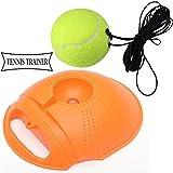 WA Tennis-trainingsgeräte, Tennistraining Rebound Ball Hand Auge Koordination Und Fitness Selbststudium Praxis Training Tool Tennis Training Werkzeug (Color : Orange)