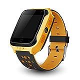 Calmean Go - Reloj inteligente para niños con localización GPS y LBS, linterna integrada y foto, color amarillo
