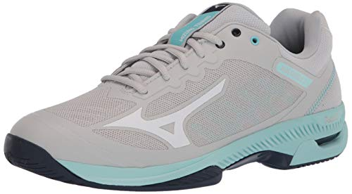 Mizuno Women's Wave Exceed Super Light 2 Tennis Shoe, Lunar Rock-Whit, 10.5