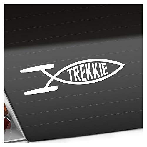 Kiwistar Trekkie Fisch 19 x 5 cm IN 15 Farben - Neon + Chrom! Sticker Aufkleber