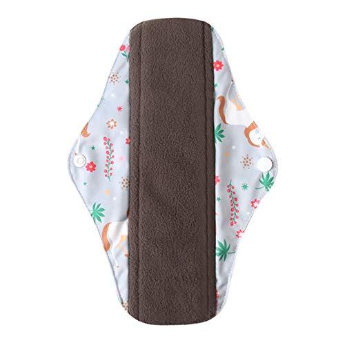 KGDUYH Reutilizable Paño de Flujo Regular Pad MESSTRUAL L Tab Color TABE A Prueba de Agua y Lavable Bambú Terry Interior Terry Daily Tapkin para Mujeres (Color : Bamboo c32, Size : S(Length 200mm))