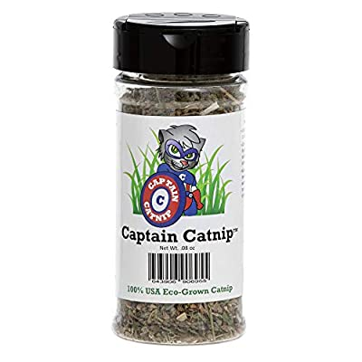Captain Catnip Strong and Potent Fresh Dried 100% Organic Nepeta Cataria Plant - 1 Cup