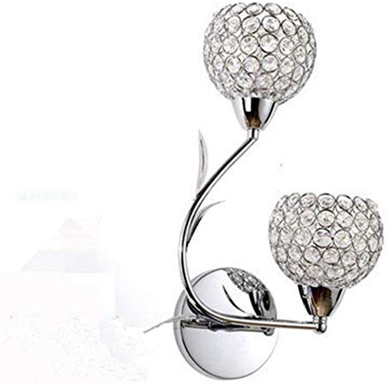 LED nachttischlampe aisle restaurant treppenlicht led kristall wandleuchte 12  38 cm, silber-B