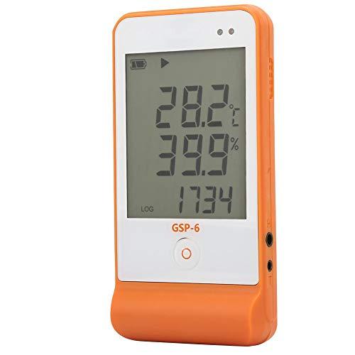 Oumefar GSP-6 Temperaturdatenlogger Datenrekorder Aufzeichnungsgerät Datenlogger breiter Temperaturmessbereich für Kühlkühlkette mit großem LCD-Bildschirm