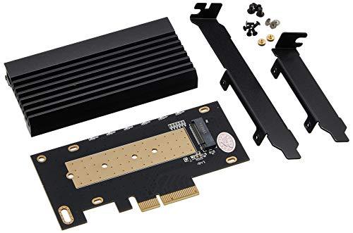 アイネックス ヒートシンク搭載 M.2 SSD 変換PCIeカード AIF-08