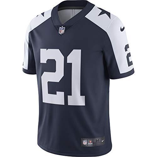 Nike Dallas Cowboys Ezekiel Elliott #21 Limited Dri-Fit Throwback Jersey (Large) Blue