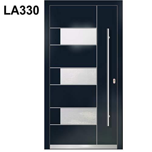 Haustür Welthaus WH94 RC2 Premiumtür Aluminium mit Kunststoff LA330 Tür 1100x2100mm DIN Rechts Farbe aussen Anthrazit Innen weiß außengriff BGR1400 innendrucker M45 Zylinder 5 Schlüßel