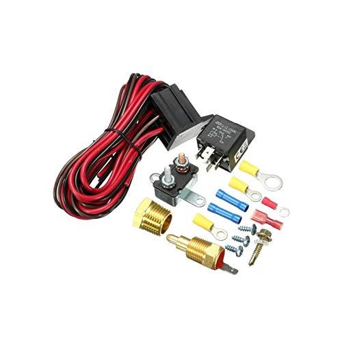 Keep it simple Ajuste para 210-195/200-185/185-170 Grado Enginera de refrigeración Termostato Termostato Sensor de Interruptor de Temperatura 12V 5 Pines Kit de relé (Color : 210 195)