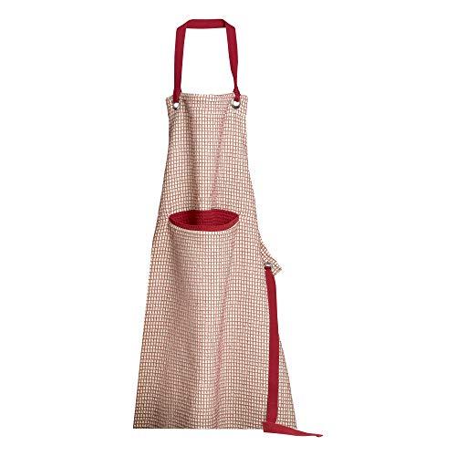 Winkler - Tablier de cuisine - Tablier de cuisine réglable - Tablier pour la cuisine - Tablier barbecue - Tablier 100% Coton - 80 x 85 - Rubis Rouge - Mumba