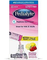 Pedialyte Electrolyte Powder, Strawberry Lemonade, Electrolyte Hydration Drink, 0.6 oz Powder Packs, 6 Count