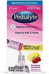 Pedialyte Electrolyte Powder, Strawberry Lemonade, Electrolyte Hydration Drink, 0.6 Ounce Powder Pac