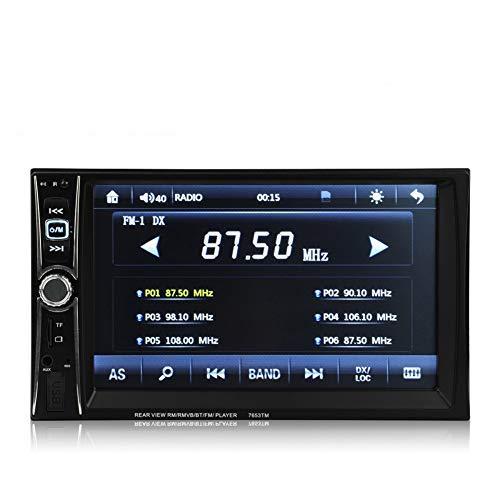 Boomboost 6.6 '' Autoradio Autoradio Multimedia MP5 MP4 Lecteur 2 Din Bluetooth Stéréo FM Contr?Le au Volant pour Android Screen Mirroring