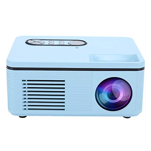 WLH Projektor Mini LED Portable 1080p HDMI Multifunktions-Heimkino S361 100-240V Blauer EU-Stecker