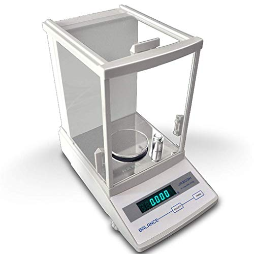 WBDZ Balanza electrónica 0.001 Balanza de análisis preciso, Balanza analítica Digital para joyería Balanza de Laboratorio de Cocina (310gx0.001g) Pesar Electrodomésticos mecánicos