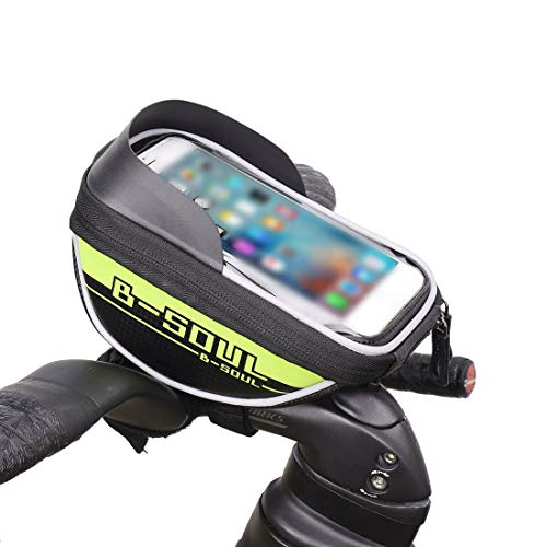 YABAISHI Bolsa de bicicleta para sillín de bicicleta, resistente a la lluvia, accesorios para bicicleta de carretera, bolsa para poste de asiento, bolsa trasera (color: verde)