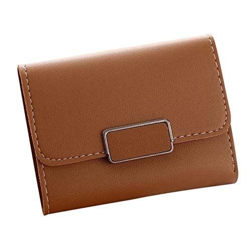 Gimax Wallets - Billetera 2018 Best Price Women Simple Short Wallet Hasp Coin Purse Card Holders Handbag Wholesale Women Bag Short Purses A2000 - (Color: Chocolate)