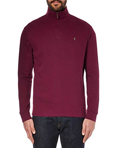 Polo Ralph Lauren Mens Ribbed Knit 1/4 Zip Pullover Sweater Red XS