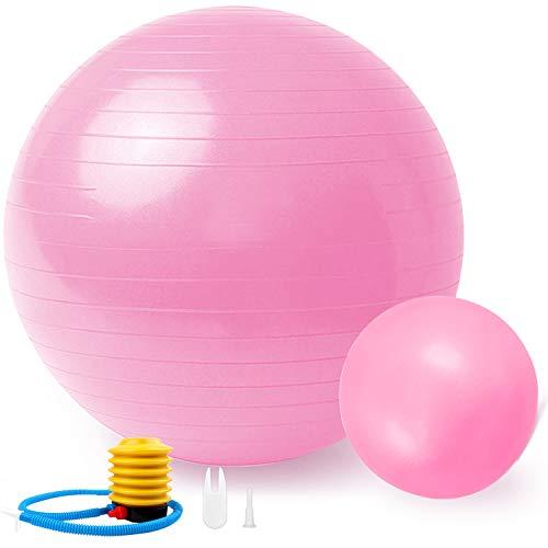Sportout 2er Pack Gymnastikball 55cm/65cm+25cm,Anti-Burst Yoga Ball,Anti-Rutsch Fitness Ball,Gymnastikball für Pilates,perfekt für Exercise im Zuhause oder im Fitnessstudio