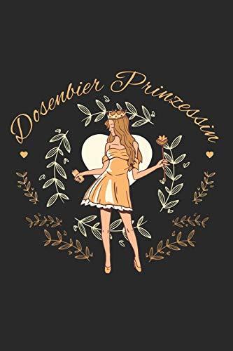 Dosenbier Prinzessin: Notizbuch, Notizblock, Skizzenbuch, Zeichenbuch, Notizheft, DIY - Buch mit 120 linierten Seiten