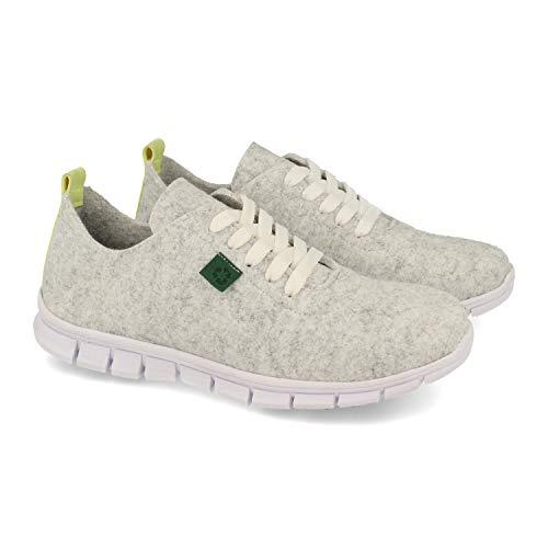 52460-Zapatillas ecologicas para Mujer, Fabricadas con Materiales 100% reciclados y Ecologicos. Resistentes al Agua y el Calor. Eco Friendly y fio.Fabricado en Espana. Talla 38 Blanco