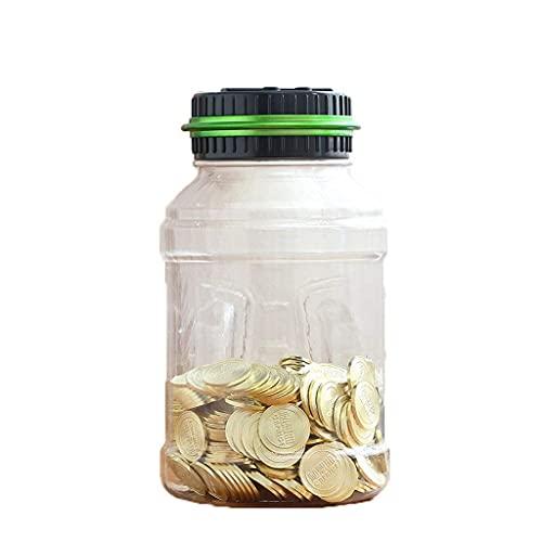 Caja de dinero creativa, caja de seguridad, hucha, contador de monedas electrónico, digital, LCD, caja de ahorro, caja de almacenamiento, caja de seguridad, hucha (color: Gr