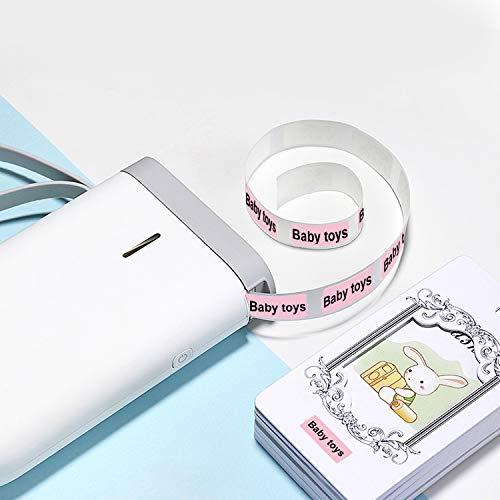 Aibecy Labeldrucker Etikettendrucker Handheld Name Preis Aufkleber Drucker BT Verbindung mit USB Kabel