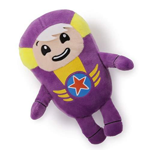 Go Jetters 1174 Soft Toy-Xuli, Multi Felpa, Púrpura, Amarillo Juguete de Peluche