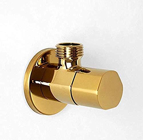 TPFEI Hohe Qualität Gold Eckventil Kupfer Gold Heißes Und Kaltes Wasser Hauptventil Küche Bad Wc Wasserventil
