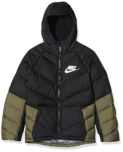 Nike B NSW Parka Down Ow - Black/medium Olive/Black/White, Größe:XL