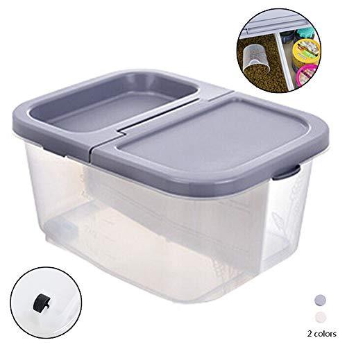 ZWW luchtdichte huisdier voedsel opslag container, Clamshell duidelijk plastic doos voor dierlijke voeding/snacks/rijst 6Kg