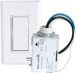 RunLessWire Simple Wireless Switch Kit, Self-Powered Rocker Switch, No Wire Light Control Kit