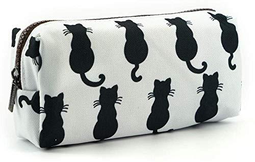 WKONAK - Estuche para lápices con diseño de gato negro