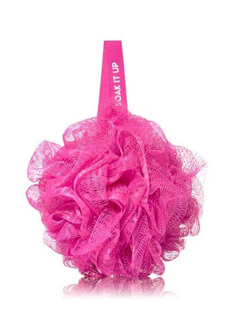 教科書巻き戻す褐色【Bath&Body Works/バス&ボディワークス】 バススポンジ ピンク メッシュ Shower Sponge Pink Mesh バス用品 [並行輸入品]